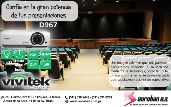Proyector Multimedia de Auditorio